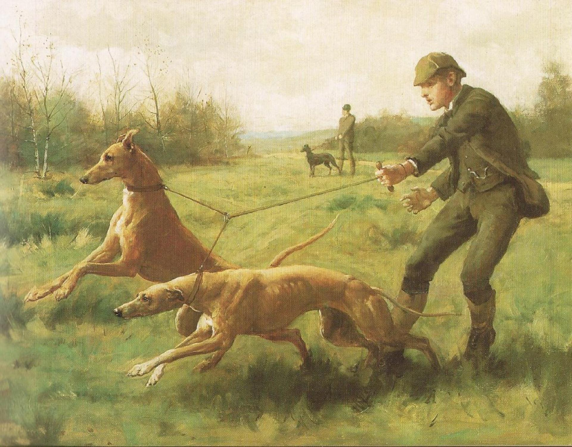 Hounds training Kilburne 1887