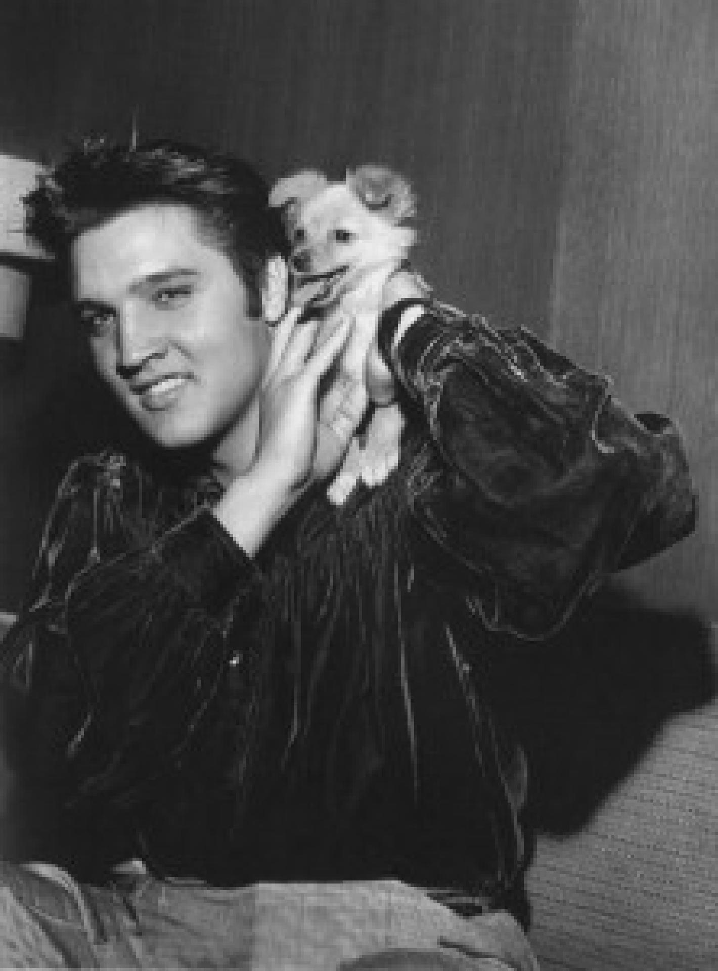 Elvis Presley und Sweat Pea, 1956